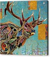 Southwestern Elk Acrylic Print by Bob Coonts