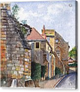 Souvigny Eclectic Architecture In A Village In Central France Acrylic Print