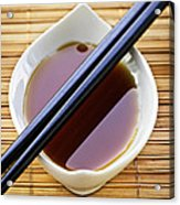 Soy Sauce With Chopsticks Acrylic Print