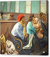 Soyer's A Railroad Station Waiting Room Acrylic Print