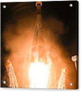 Soyuz Vs06 Lifting Off Acrylic Print