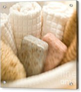 Spa Basket With Soaps Acrylic Print