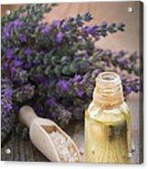Spa With Lavender Oil And Bath Salt Acrylic Print