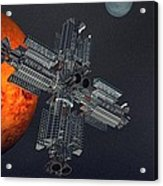 Space Colony Acrylic Print