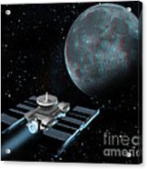 Space Exploration, Moon, Illustration Acrylic Print