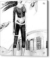Space Girl 5000 Acrylic Print