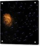 Space Invasion Acrylic Print by Bonnie Clark Weatherford