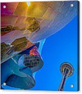 Space Needle And Emp In Perspective Hdr Acrylic Print