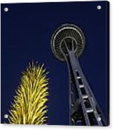 Space Needle At Night Acrylic Print