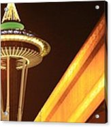 Space Needle Monorail  Acrylic Print by Donald Torgerson