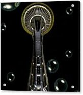 Space Needle With Bubbles 1 Acrylic Print