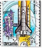 Space Shuttle Columbia Rocket Launch  Acrylic Print by Jim Pruitt