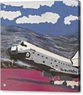 Space Shuttle Landing In The Desert Acrylic Print