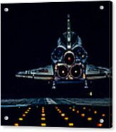 Space Shuttle Night Landing Acrylic Print