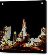 Space Shuttle Night Launch Acrylic Print