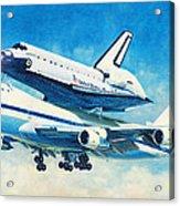 Space Shuttle's Last Flight Acrylic Print