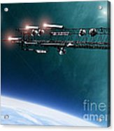Space Station Communications Antenna Acrylic Print by Antony McAulay