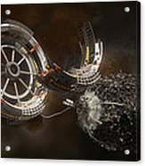 Space Station Construction Acrylic Print by Bryan Versteeg