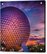 Spaceship Earth Glow Acrylic Print