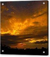 Spacey Sunset Acrylic Print