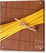 Spaghetti Italian Pasta Acrylic Print by Monika Wisniewska