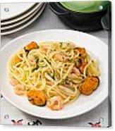 Spaghetti With Sea Food Acrylic Print