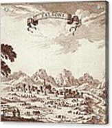 Spain 19th C.. Solsona. Engraving Acrylic Print