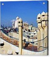 Spain -  Barcelona - Gaudi - Casa Mila Acrylic Print