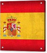 Spain Flag Vintage Distressed Finish Acrylic Print