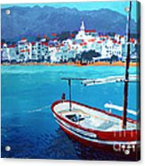 Spain Series 08 Cadaques Red Boat Acrylic Print