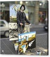 Painter In Spain Series 23 Acrylic Print