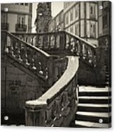 Plaza Stairs In Spain Series 24 Acrylic Print