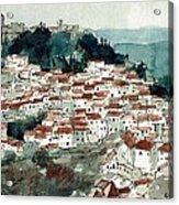 Spanish Hillside Village Acrylic Print