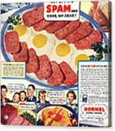 Spam 1960s Usa Hormel Meat Tinned Acrylic Print