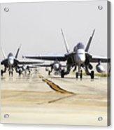 Spanish Air Force Ef-18m Hornets Acrylic Print