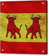 Spanish Bulls Acrylic Print by Jared Johnson