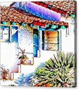 Spanish Bungalow Acrylic Print
