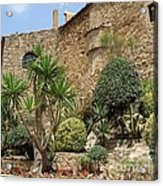 Spanish Church Garden Acrylic Print