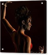 Spanish Flamenco Dancer - 1 Acrylic Print by Fairy Fantasies