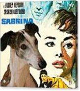 Spanish Galgo Art - Sabrina Movie Poster Acrylic Print