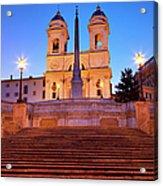 Spanish Steps Dawn Acrylic Print