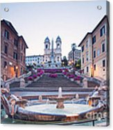 Spanish Steps Famous Stairway Rome Italy Acrylic Print