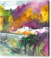 Spanish Village By The River 02 Acrylic Print