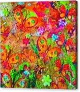 Sparking Butterflies Flowers Acrylic Print