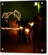 Sparklers Acrylic Print by Valeria Donaldson