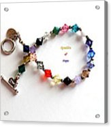 Sparkles Of Hope Cancer Bracelet Acrylic Print by Barbara Griffin
