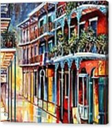 Sparkling French Quarter Acrylic Print by Diane Millsap