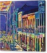 Sparkling Night On Bourbon Street Acrylic Print