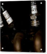 Sparkplugs On A Vintage Motorcycle Acrylic Print