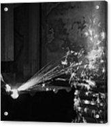 Sparks Bw Acrylic Print
